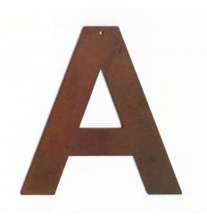 Lettre antique rouillée 8cm