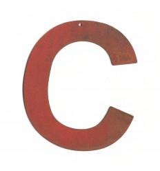 Lettre red vintage 25cm