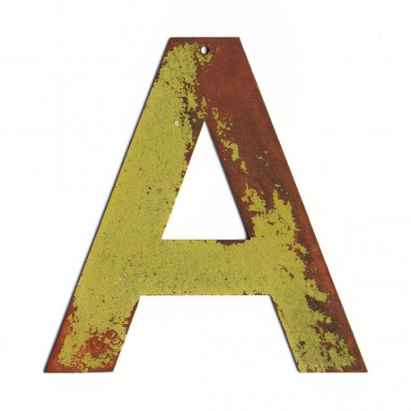 Lettre décorative metal - Lettre metal deco pas cher - Lettre industrielle jaune