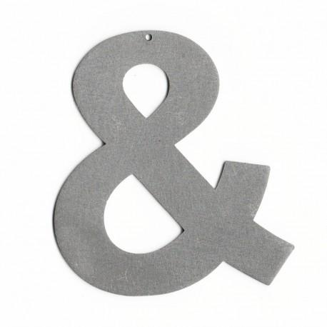 Lettre décorative metal - Chiffres et lettres & esperluette