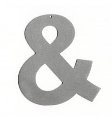 Esperluette acier brossé