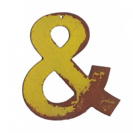 lettre decorative 3d - lettre en metal - lettre décorative murale - lettre déco- esperluette
