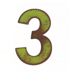 Chiffre green vintage 25cm
