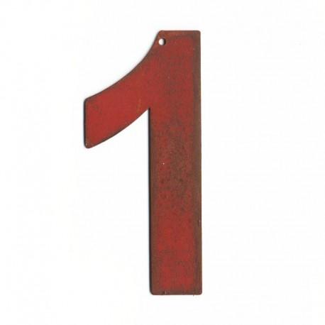 Chiffre en lettre metal- Numero maison design