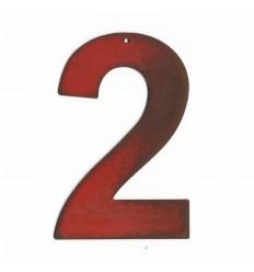 Chiffre red vintage 16cm