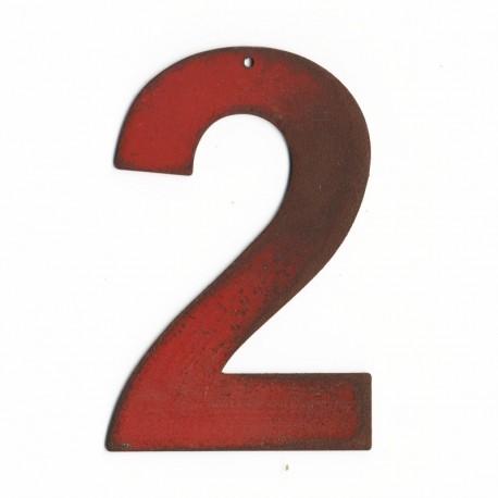 Chiffre en lettre métal - numéro de maison original