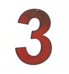 Chiffre red vintage 25cm