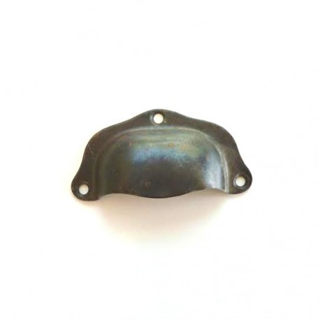 Poignée coquille acier bruni